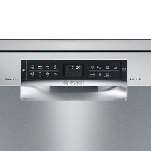 Bảng điều khiến của máy rửa bát Bosch SMS68MI04E
